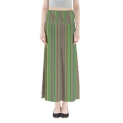 Green lines Maxi Skirts