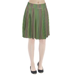 Green lines Pleated Skirt