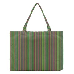 Green lines Medium Tote Bag