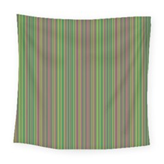 Green Lines Square Tapestry (large)