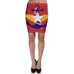 Flag of The Myanmar Armed Forces Bodycon Skirt