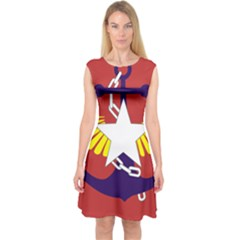 Flag of The Myanmar Armed Forces Capsleeve Midi Dress
