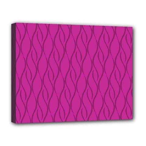 Magenta pattern Canvas 14  x 11
