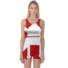 Flag of The Myanmar Army One Piece Boyleg Swimsuit