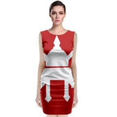 Flag of The Myanmar Army Classic Sleeveless Midi Dress
