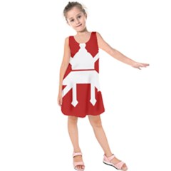 Flag of The Myanmar Army Kids  Sleeveless Dress