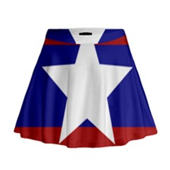 Flag of the Bureau of Special Operations of Myanmar Army Mini Flare Skirt