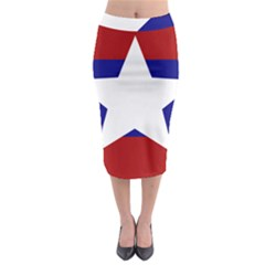 Flag of the Bureau of Special Operations of Myanmar Army Midi Pencil Skirt