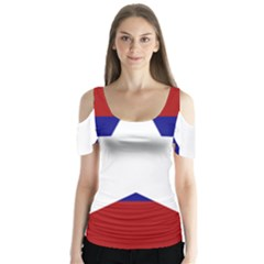 Flag of the Bureau of Special Operations of Myanmar Army Butterfly Sleeve Cutout Tee