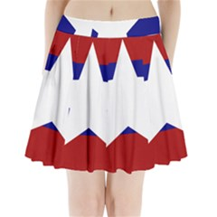 Flag of the Bureau of Special Operations of Myanmar Army Pleated Mini Skirt