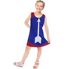 Flag of Myanmar Army Northern Command  Kids  Tunic Dress