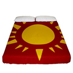 Flag Of Myanmar Army Northeastern Command Fitted Sheet (queen Size)