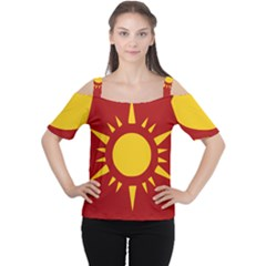 Flag of Myanmar Army Northeastern Command Women s Cutout Shoulder Tee