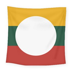 Flag Of Myanmar Shan State Square Tapestry (large)