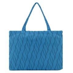 Blue pattern Medium Zipper Tote Bag