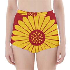 Flag of Myanmar Army Eastern Command High-Waisted Bikini Bottoms
