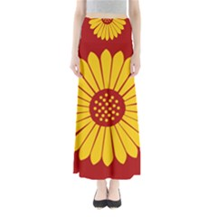 Flag of Myanmar Army Eastern Command Maxi Skirts