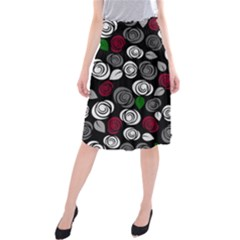 Elegant roses design Midi Beach Skirt