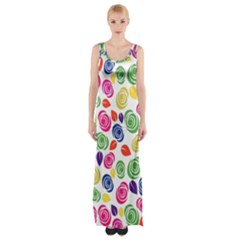 Colorful roses Maxi Thigh Split Dress