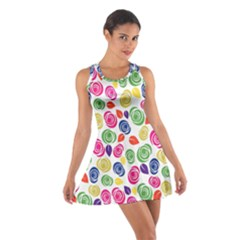 Colorful roses Cotton Racerback Dress