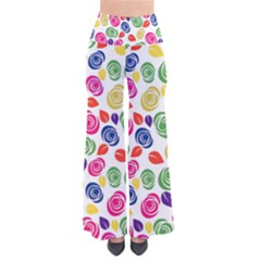 Colorful roses Pants