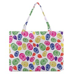 Colorful roses Medium Zipper Tote Bag