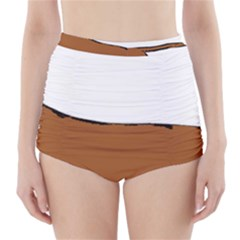 Dachshund Silo High-Waisted Bikini Bottoms