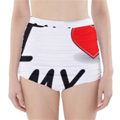 Dachshund Love High-Waisted Bikini Bottoms