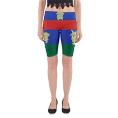 Flag of Myanmar Kayah State Yoga Cropped Leggings