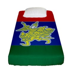 Flag Of Myanmar Kayah State Fitted Sheet (single Size)