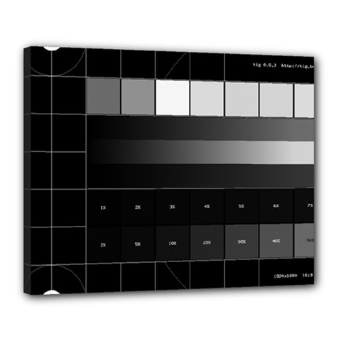 Grayscale Test Pattern Canvas 20  x 16