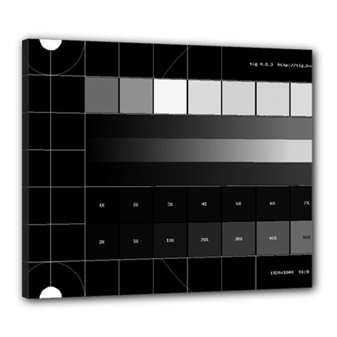 Grayscale Test Pattern Canvas 24  x 20