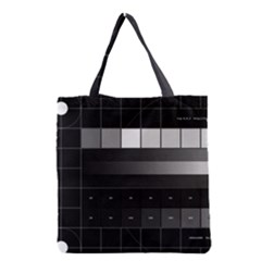 Grayscale Test Pattern Grocery Tote Bag