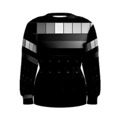 Grayscale Test Pattern Women s Sweatshirt