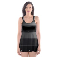 Grayscale Test Pattern Skater Dress Swimsuit