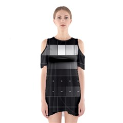 Grayscale Test Pattern Shoulder Cutout One Piece