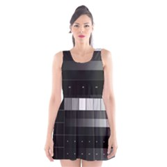 Grayscale Test Pattern Scoop Neck Skater Dress