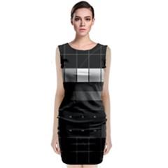 Grayscale Test Pattern Classic Sleeveless Midi Dress