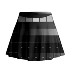 Grayscale Test Pattern Mini Flare Skirt