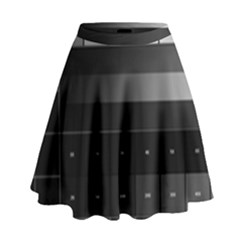 Grayscale Test Pattern High Waist Skirt