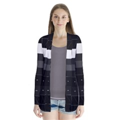 Grayscale Test Pattern Cardigans