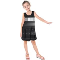 Grayscale Test Pattern Kids  Sleeveless Dress