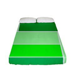 Green Shades Geometric Quad Fitted Sheet (full/ Double Size)