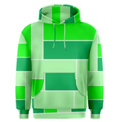 Green Shades Geometric Quad Men s Pullover Hoodie