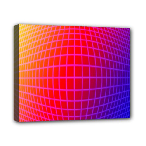 Grid Diamonds Figure Abstract Canvas 10  x 8