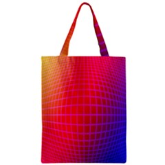 Grid Diamonds Figure Abstract Zipper Classic Tote Bag