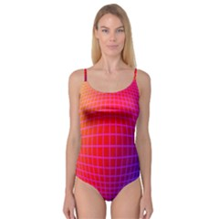 Grid Diamonds Figure Abstract Camisole Leotard