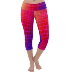 Grid Diamonds Figure Abstract Capri Yoga Leggings
