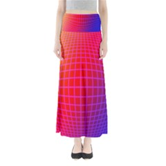 Grid Diamonds Figure Abstract Maxi Skirts