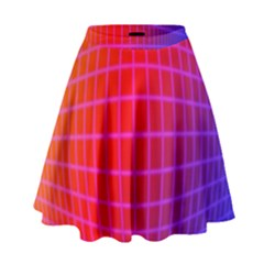 Grid Diamonds Figure Abstract High Waist Skirt